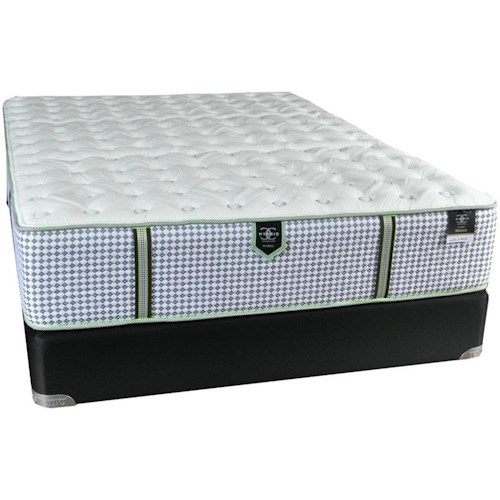 Restonic CC Marquis Firm Twin Extra Long Firm Hybrid Mattress and 9