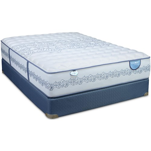 Restonic CC Select Towson Full Firm Mattress and Low Profile Foundation