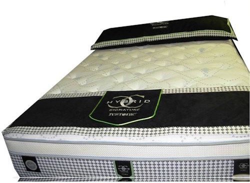 Restonic CC Signature Caldwell Cal King Firm Euro Top Hybrid Mattress and Foundation