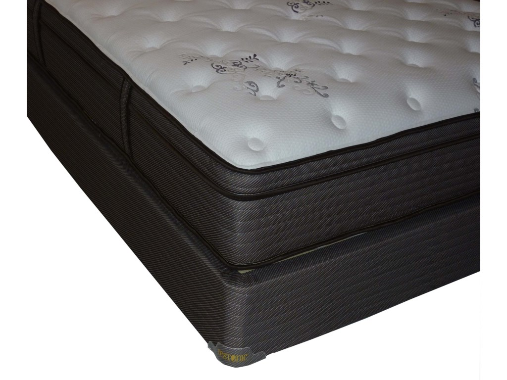 Restonic Clarion Dual SidedQueen Euro Top Dual-Sided Mattress Set