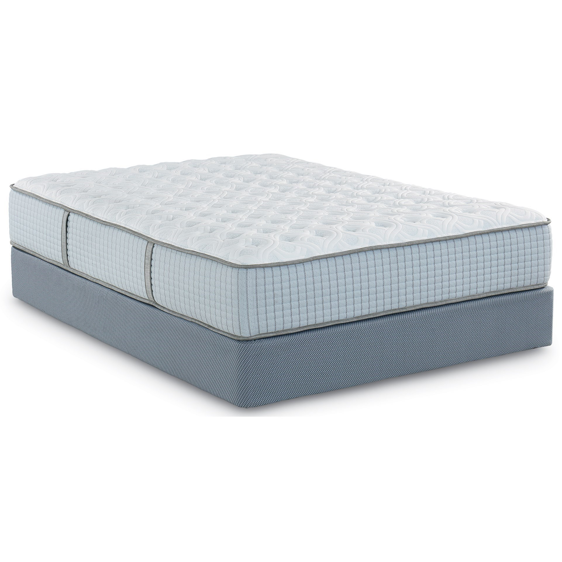"""Queen 2-Sided Luxury Firm / Luxury Plush Pocketed Coil Mattress and 9"""" Premium Wood Foundation"""