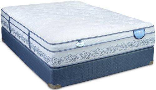 Restonic Comfort Care Caton Full Euro Top Mattress and Low Profile Foundation