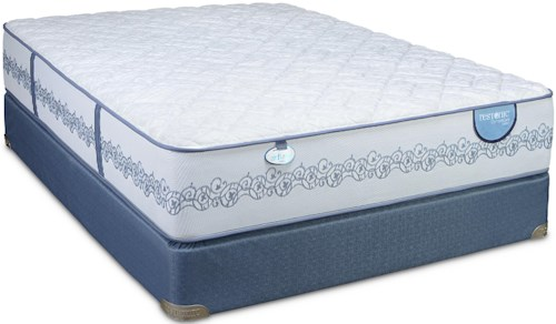 Restonic Comfort Care Caton Queen Firm Mattress and Low Profile Foundation