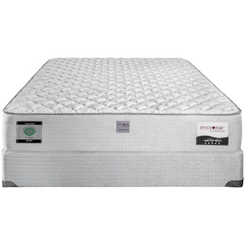 Restonic Addington King Extra Firm Mattress and Comfort Care Foundation