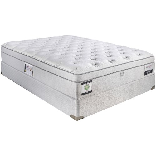 Restonic Cloud Queen Euro Top Plush Mattress and Foundation