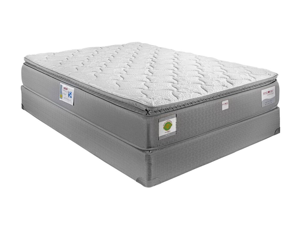 Restonic London Queen Hybrid Pillow Top Mattress - Miskelly Furniture -  Mattresses