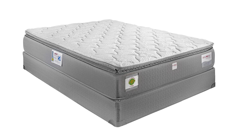 restonic london queen hybrid pillow top mattress miskelly furniture mattresses