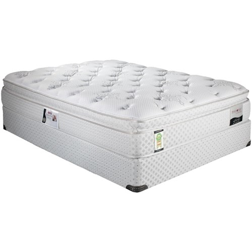 Restonic ComfortCare Carmona King Euro Top Mattress and Foundation