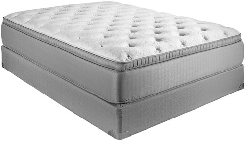 Restonic ComfortCare Select - Gentilly II Full Plush Euro Top Hybrid Mattress and Foundation