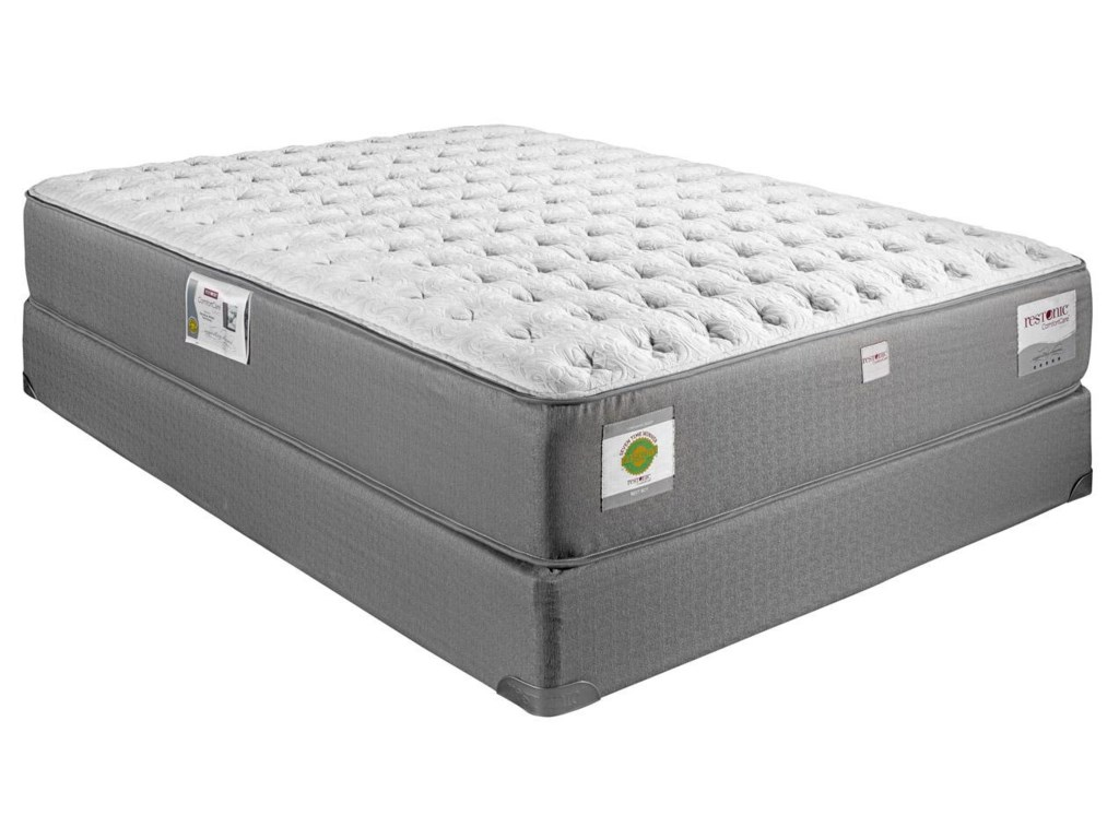Restonic ComfortCare Select - Gentilly IIQueen Extra Firm Hybrid Mattress Set