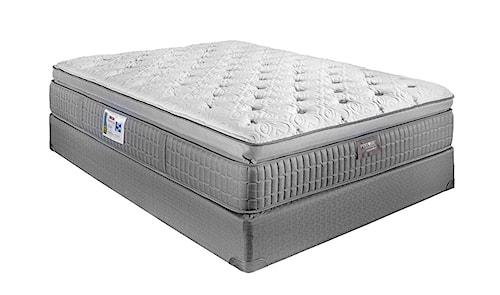 Restonic ComfortCare Signature - Saphire Twin Pillow Top Hybrid Mattress and Foundation