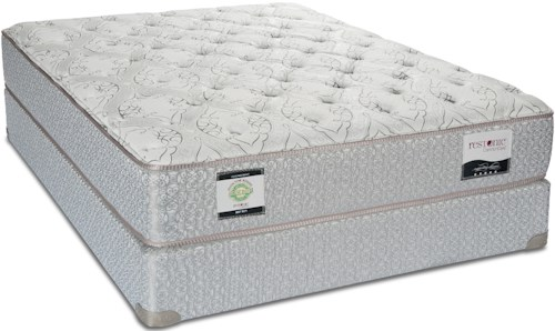 Restonic Ultima King Cushion Firm Mattress and Foundation