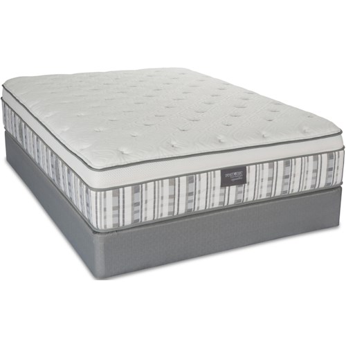 Restonic Leesburg King Hybrid Mattress and Low Profile Foundation