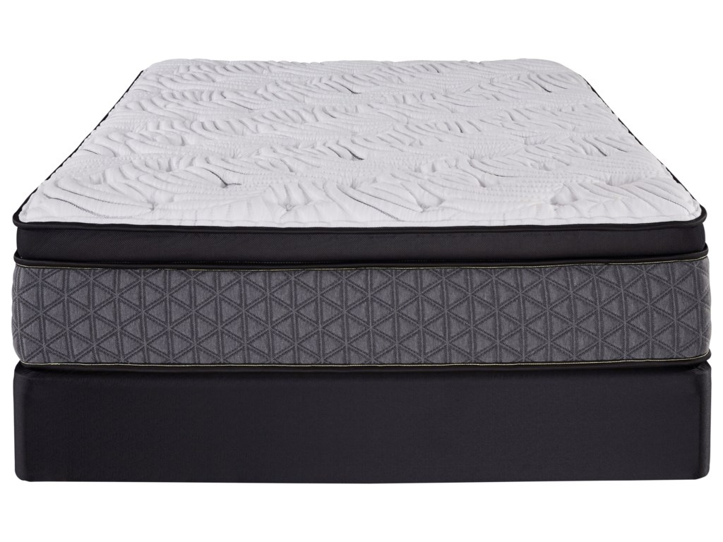 Restonic Cordova Euro TopKing Pocketed Coil Mattress Set