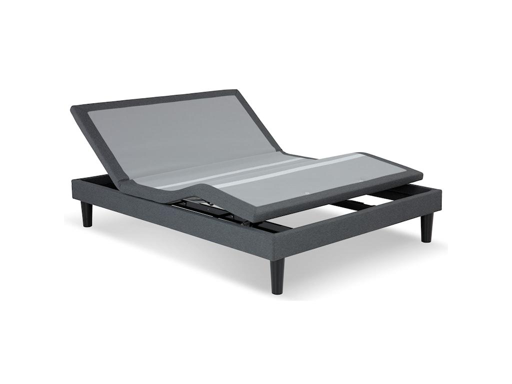 Restonic Deluxe Furniture Style Adj BaseSplit Cal King Deluxe Adjustable Base