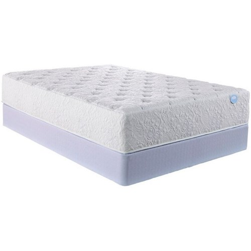 Restonic Elevate Solace Luxury Firm Queen Luxury Firm Latex Mattress and 9