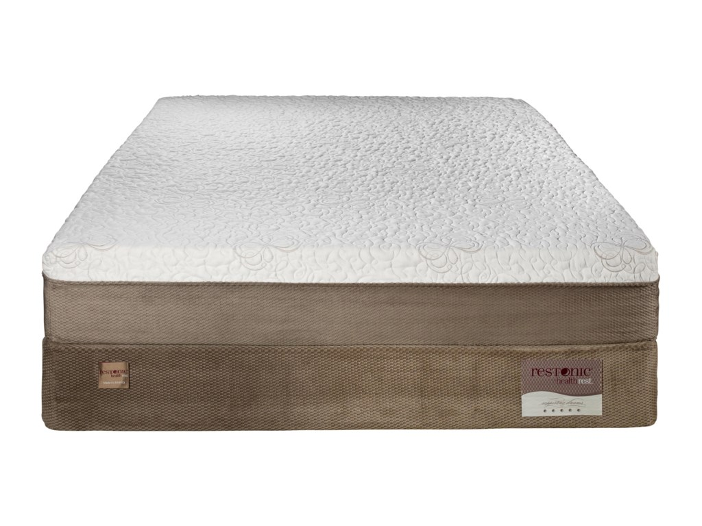 Restonic HealthRest AudubonKing Luxury Firm Memory Foam Mattress Set