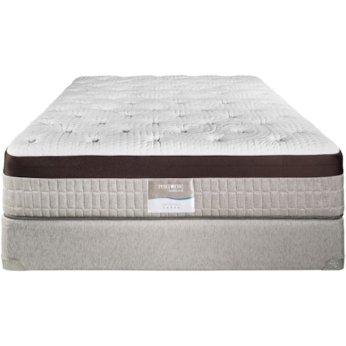 Restonic Vienna King Extra Firm Talalay Latex Mattress and Foundation
