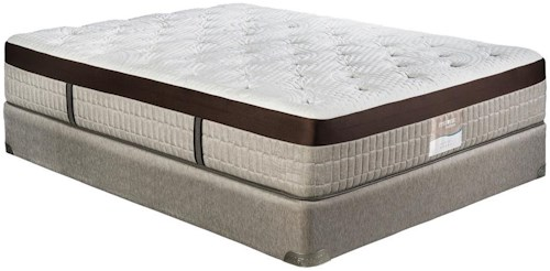 Restonic Vienna King Firm Talalay Latex Mattress and Foundation