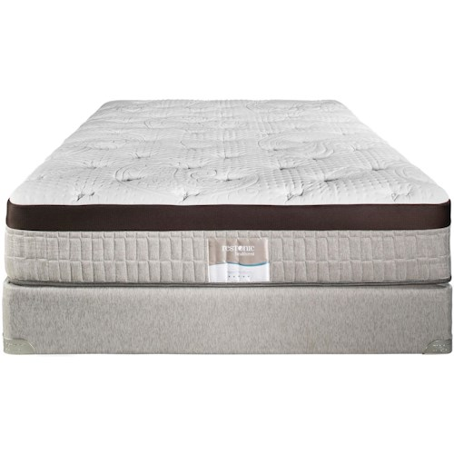 Restonic Vienna King Plush Talalay Latex Mattress and Foundation