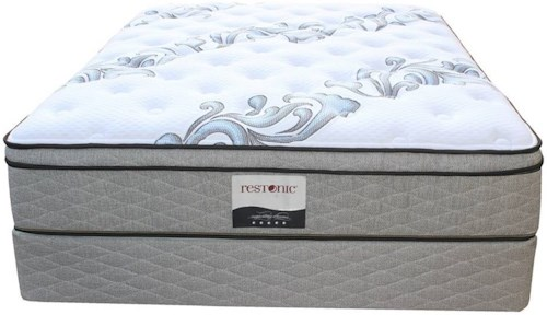 Restonic Ortho-Pedic Acclaim ET Twin Extra Long Euro Top Pocketed Coil Mattress and 9