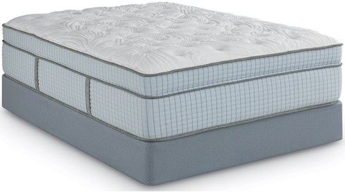 Restonic Scott Living Ambiance ET Twin Euro Top Coil on Coil Mattress and Scott Living Universal High Profile Foundation