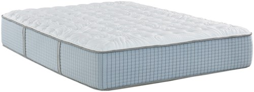 Restonic Scott Living Cascade Firm King Firm Coil on Coil Mattress and Deluxe Adjustable Base