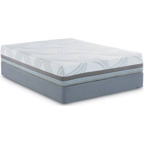 Restonic Scott Living Twinkle Hybrid Queen Hybrid Mattress and Scott Living Universal High Profile Foundation