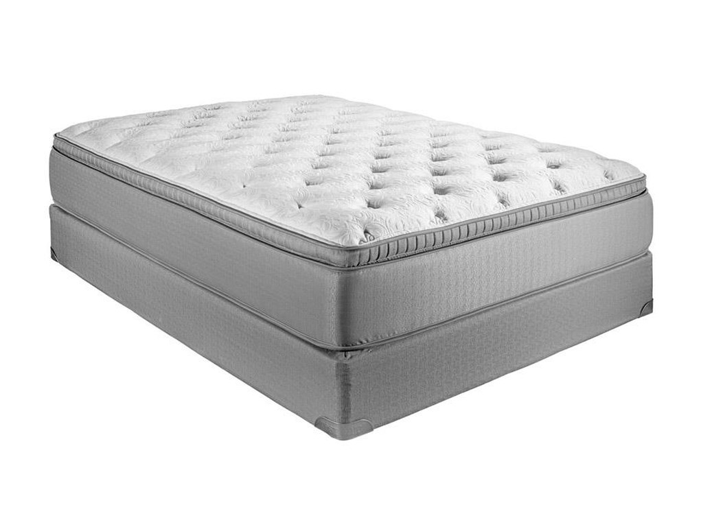 Restonic Key WestTwin Euro Top Plush Hybrid Mattress Set