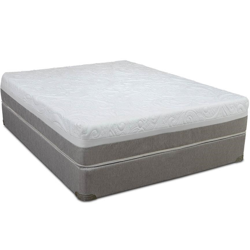 Twin Gel Infused Memory Foam Mattress And High Profile Foundation