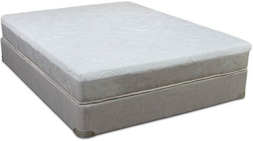 Restonic Enliven Cal King Gel Infused Memory Foam Mattress and High Profile Foundation