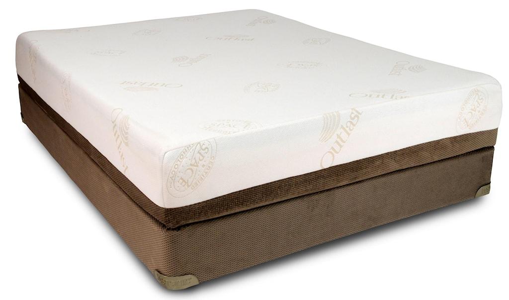 Restonic Tempagel Gemini Queen Extra Firm Memory Foam Mattress And