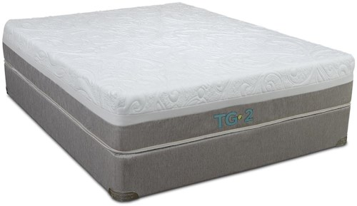 Restonic TGII Glow Cal King Tempa-Gel Memory Foam Mattress and High Profile Foundation