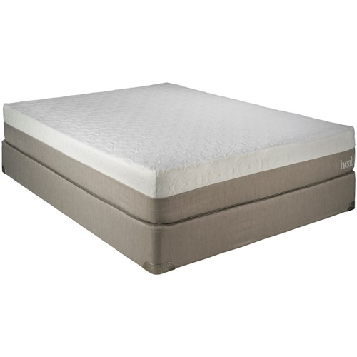Restonic Wedgewood 10-Inch Twin Memory Foam Mattress and Foundation