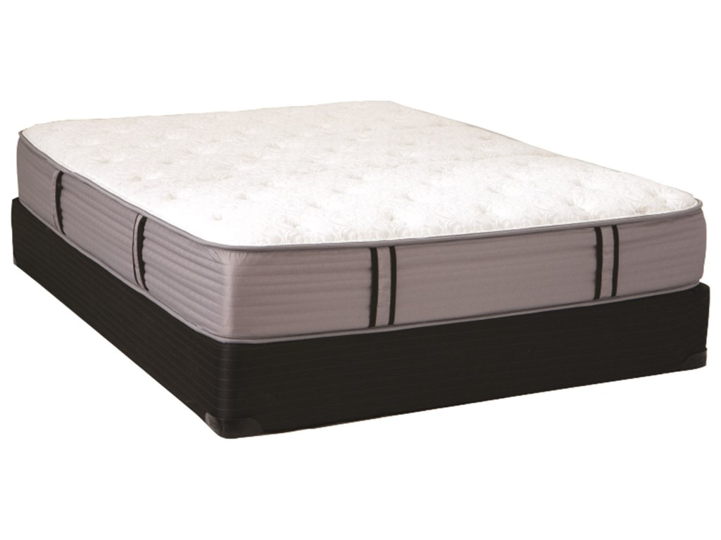 Restonic Windsor II FirmQueen Firm Pocketed Coil Mattress Set