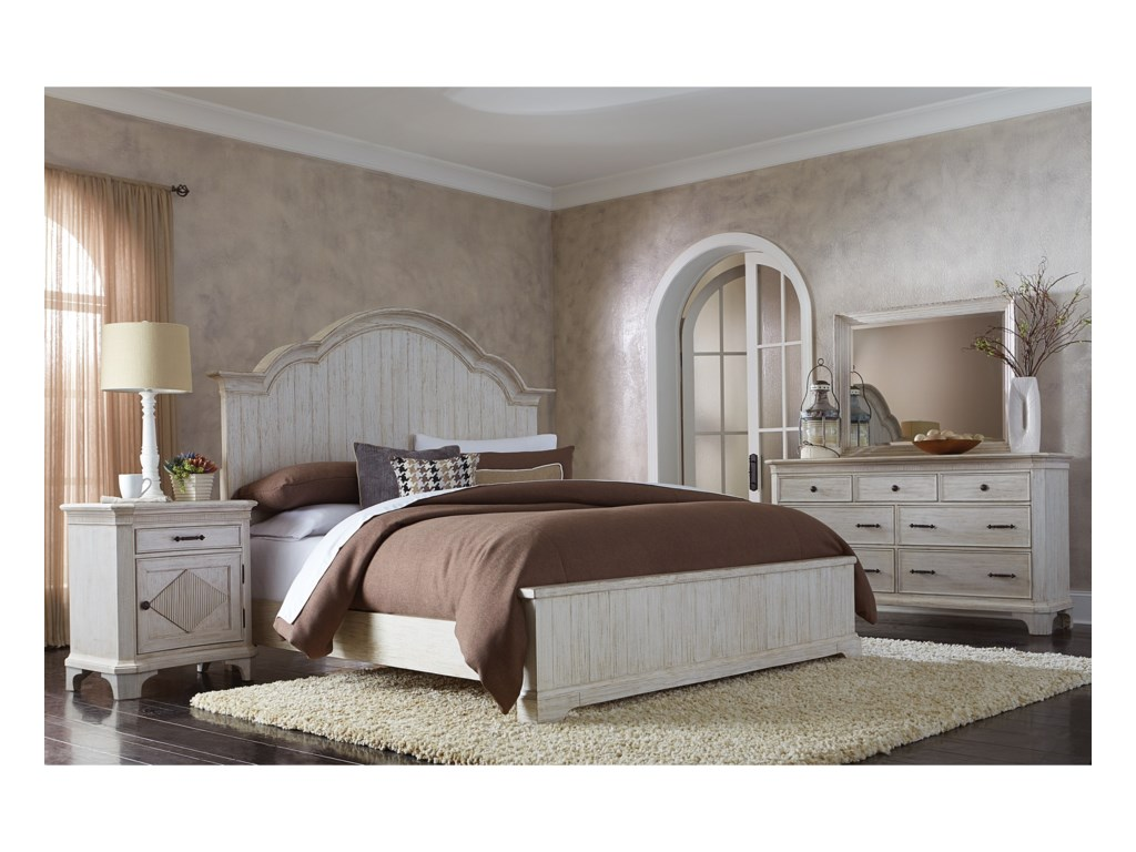 Riverside Furniture AberdeenQueen Bedroom Group 1