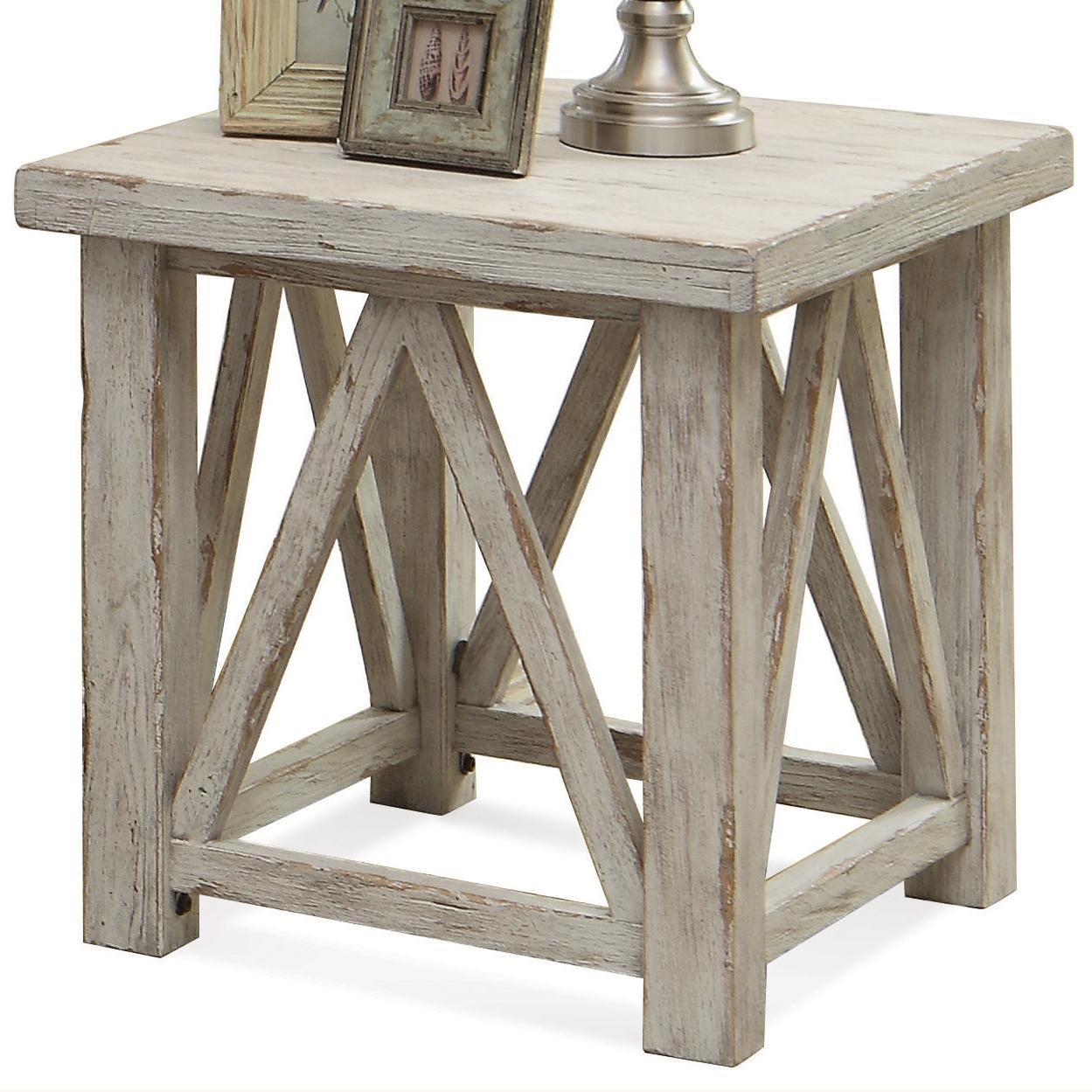 Beautiful Riverside Furniture Aberdeen End Table With Light Distressing