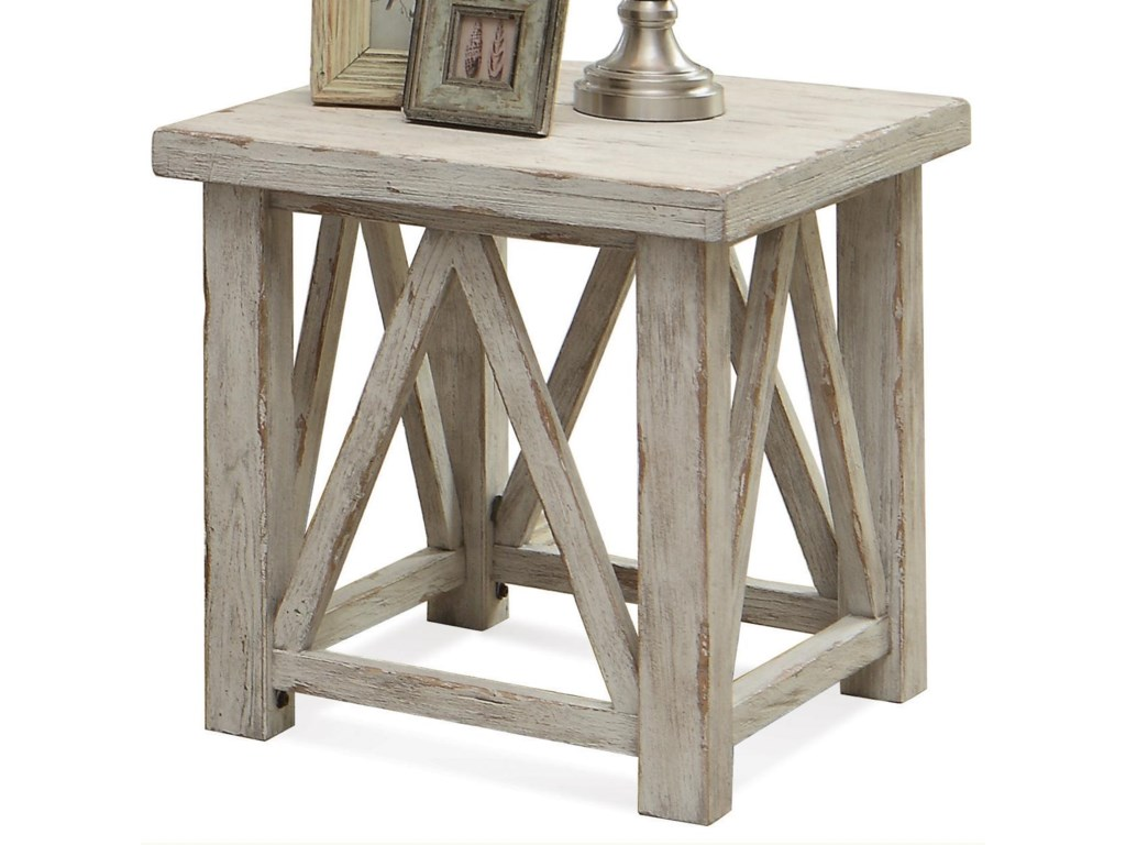 riverside furniture aberdeen end table with light distressing