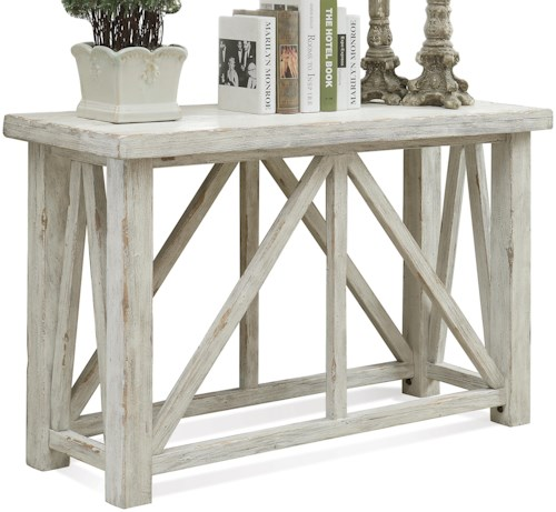 Riverside Furniture Aberdeen Sofa Table with Block Feet