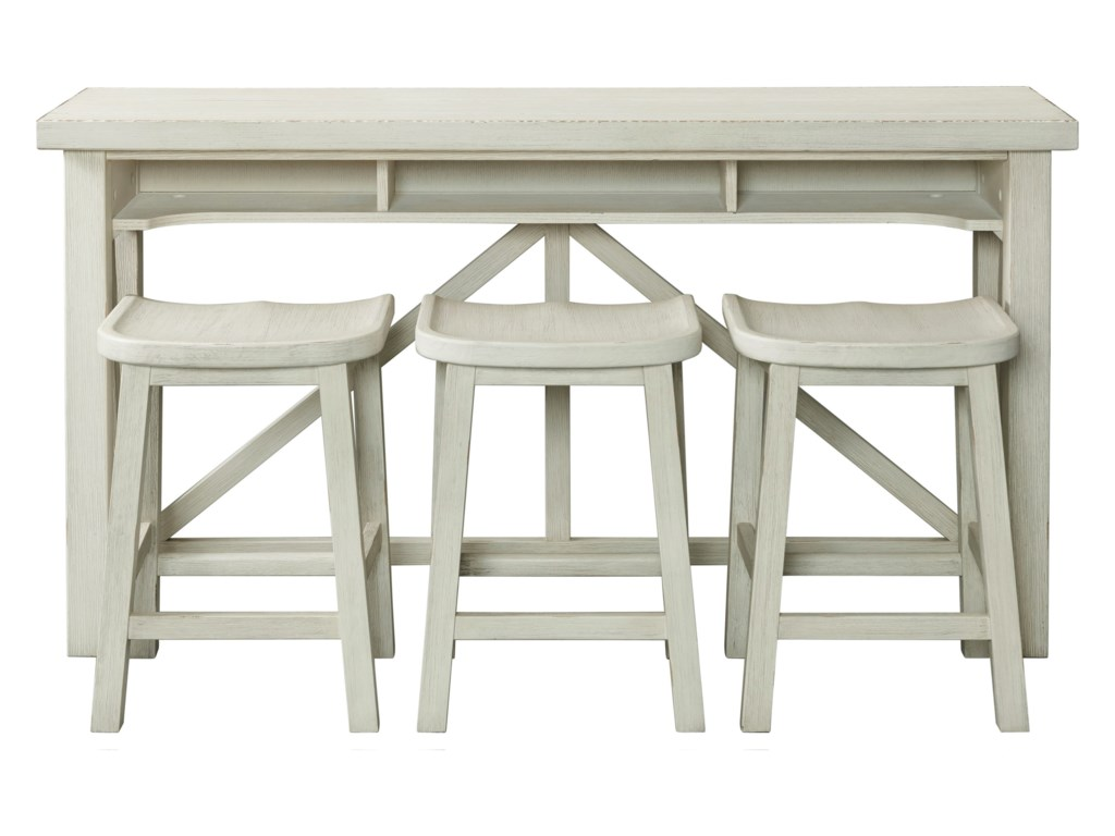 Riverside Furniture AberdeenSofa Table with Stools