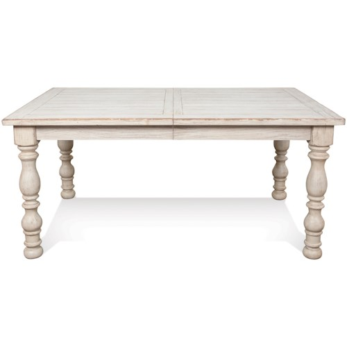 Riverside Furniture Aberdeen Rectangular Farmhouse Expandable Dining Table