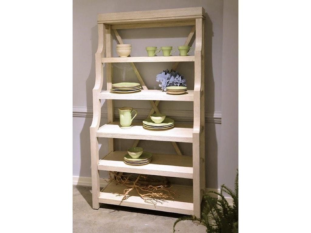 Riverside Furniture AberdeenOpen Display Cabinet