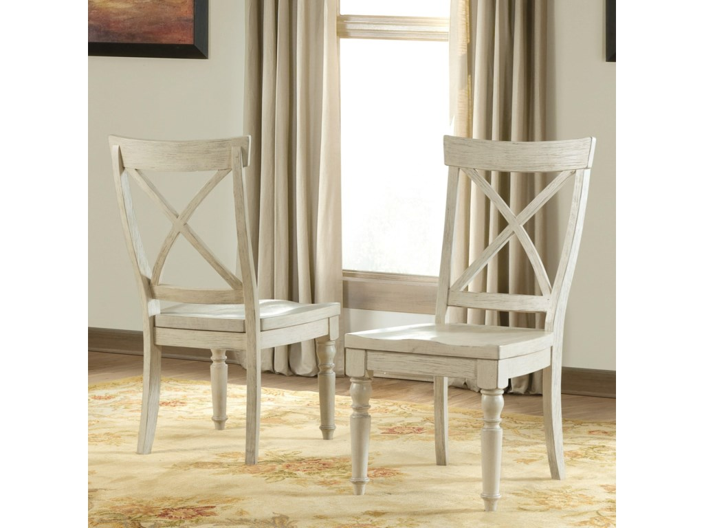 Riverside Furniture AberdeenX-Back Side Chair 2in
