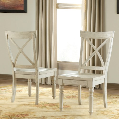 Riverside Furniture Aberdeen X-Back Side Chair with Turned Front Legs