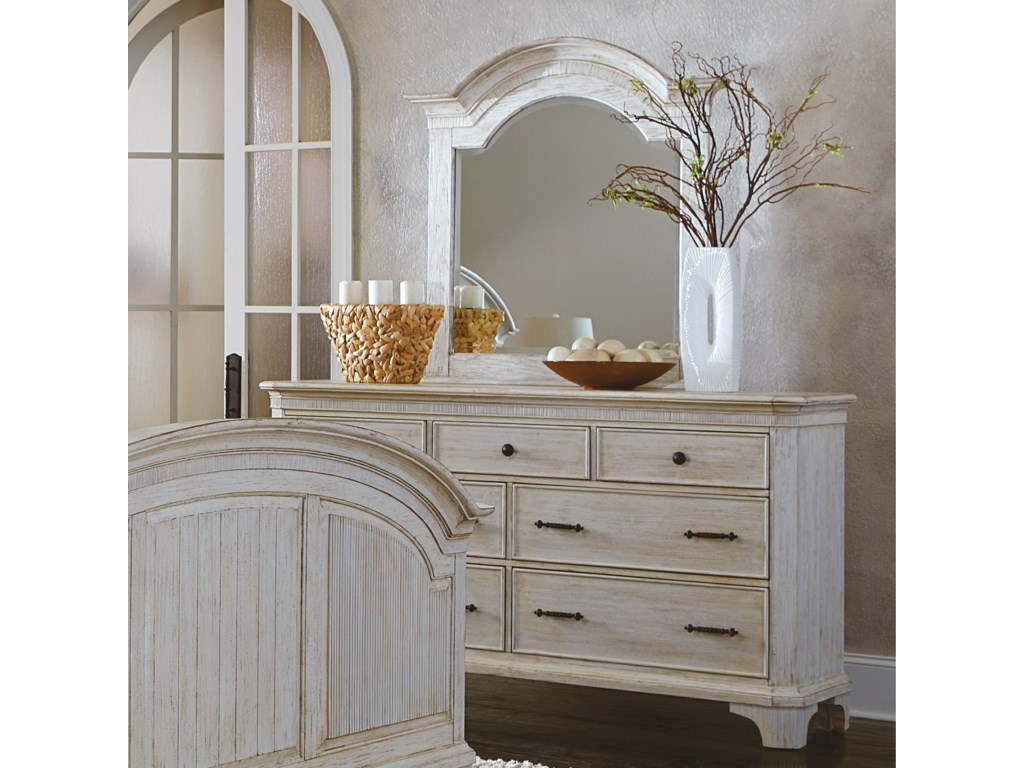 Riverside Furniture AberdeenDresser and Mirror Combo