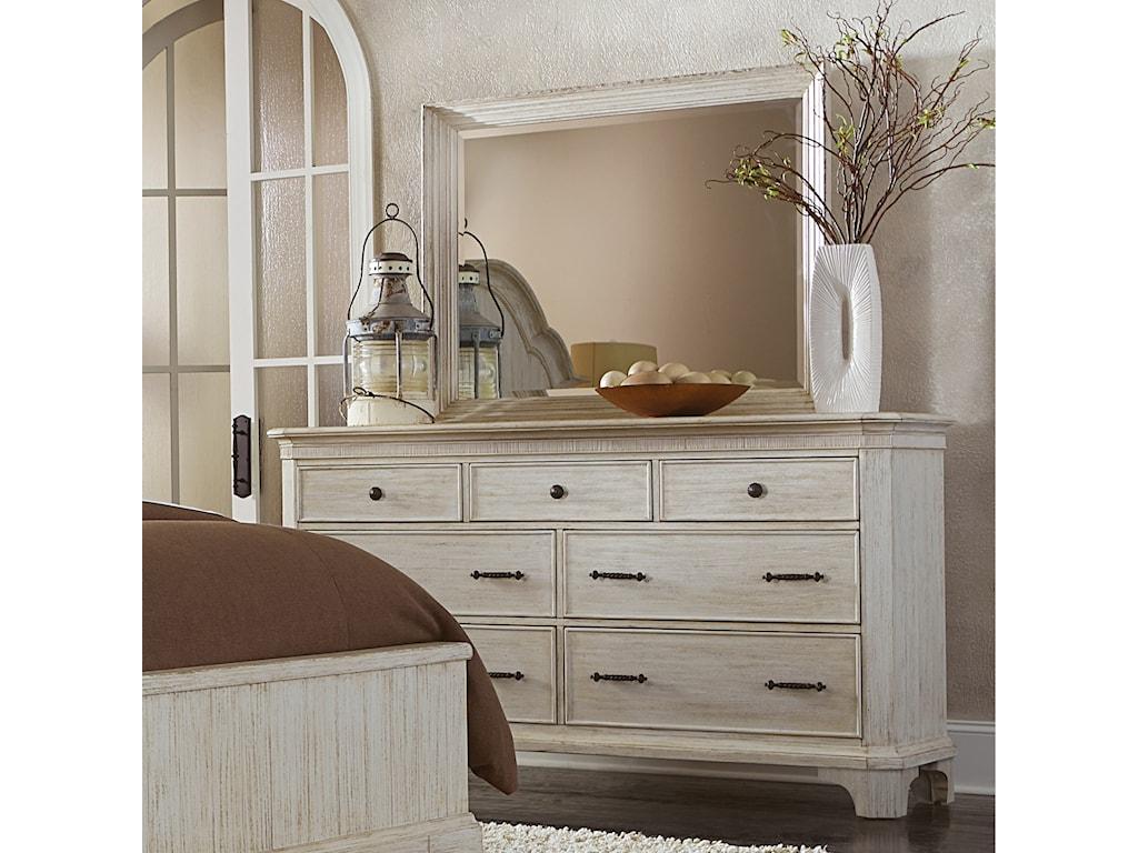 Riverside Furniture AberdeenLandscape Mirror