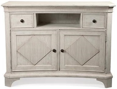 Riverside Furniture Aberdeen Media Chest with Reeded Diamond Overlays
