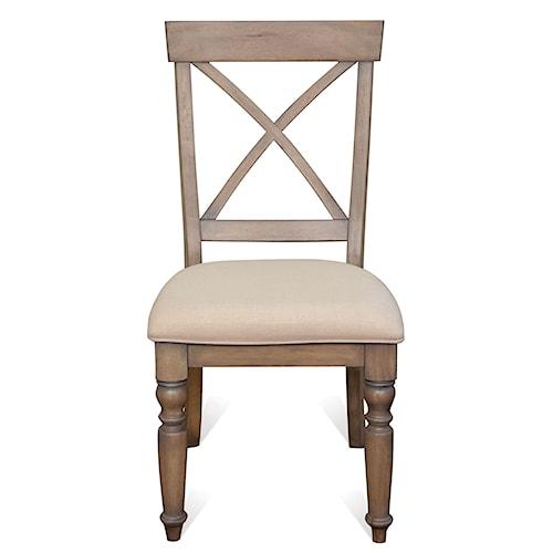 Riverside Furniture Aberdeen X-Back Side Chair w/ Turned Legs