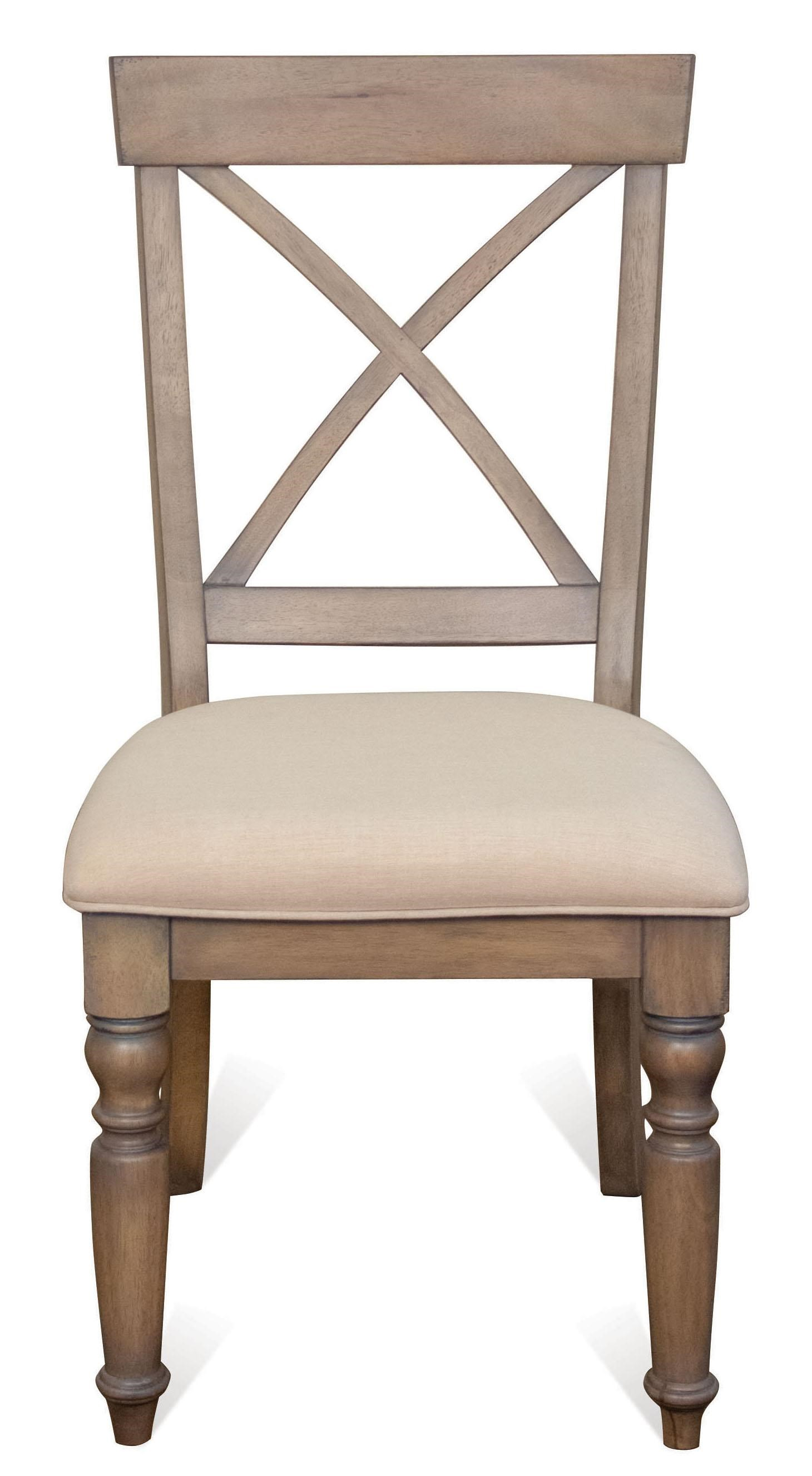 Riverside Furniture Aberdeen X Back Side Chair W/ Turned Legs