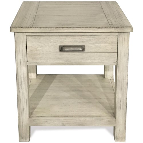Riverside Furniture Aberdeen 1-Drawer Nightstand with Felt-Lined Drawer